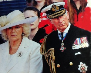 Camilla, wearing QOR brooch